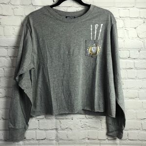 Harry Potter long sleeve cropped tee. Large.